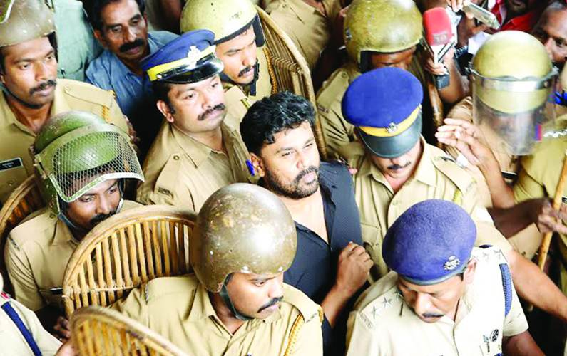 Malayalam actor Dileep's police custody extended by a day