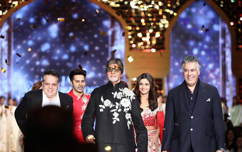 Big B, Varun and Alia walk the ramp for charity
