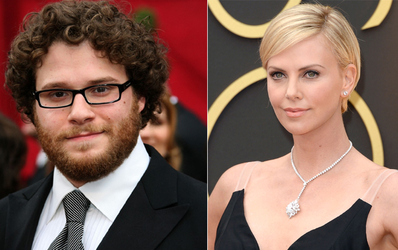 Charlize Theron, Seth Rogen in 'Flarsky'