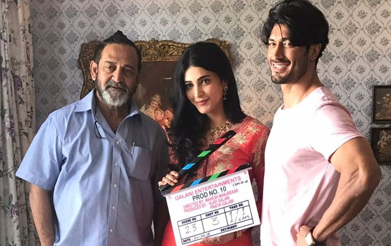 Vidyut, Shruti start shooting for their film