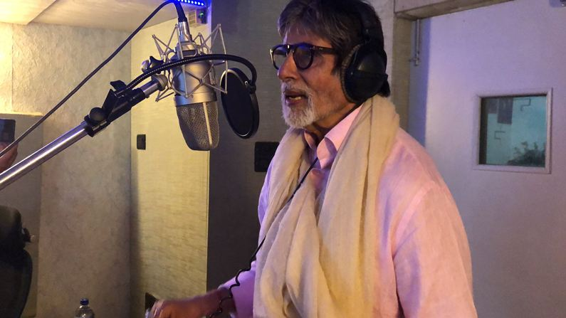 Big B records song till 4 a.m.