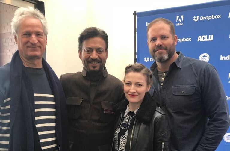 Irrfan poses with Denman, Kelly