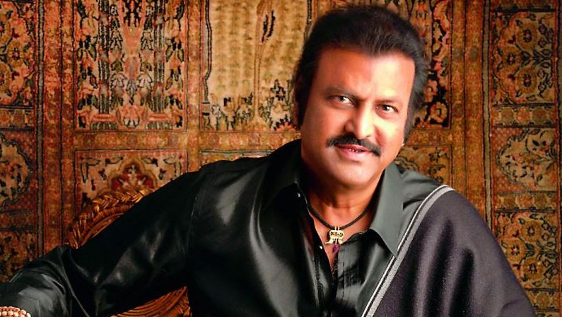 Mohan Babu films thrilling action scene for 'Gayatri'